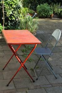 cafétafel en -stoel