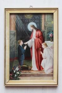 prent 'ter herinnering aan uw Heilige Communie'